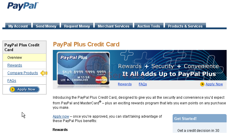 How to apply for a PayPal credit card